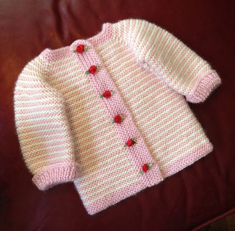 Ravelry: Project Gallery for Fuss Free Baby cardigan pattern by Louise Tilbrook