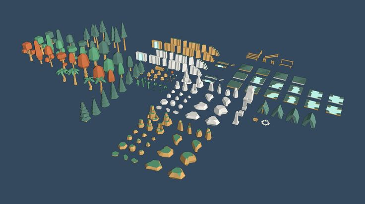 The extended version of the Nature Pack adds new trees, foliage, rocks and other structures and objects.  Works in Unity, Unreal and all other 3D engines Optimized, low poly models No textures (just materials)