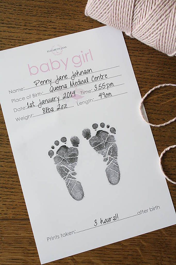 Baby Hand And Foot Inkless Print Certificate Baby Hand And Foot Prints Baby Hands Birth Certificate Template