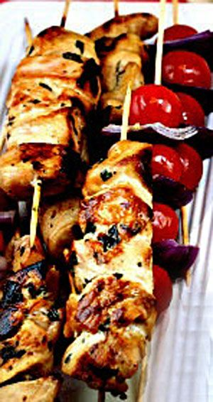 Tender Garlic Lemon Chicken Kebabs