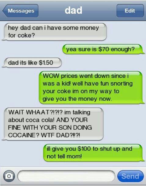 hahahahaha...cocaine