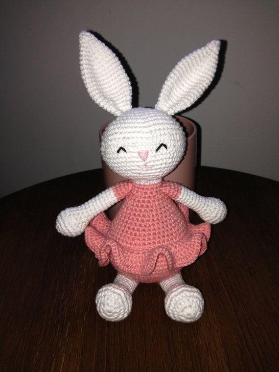 Hæklet kanin/crocheted bunny by ElisasCrochetPattern on Etsy