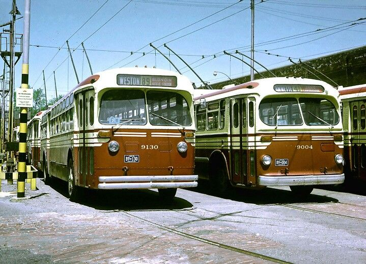 TTC Marmon Herrington and Brill Trolley Coaches .