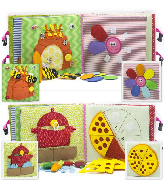 *This book can be personalized. When you purchase select the name of your baby, or another name of the book!  Childrens Quiet Book, Busy Book, Eco friendly, educational 12 pages.  Children are constantly looking, listening, and touching things in their surroundings. They love colors, shapes, textures, and gadgets of all sorts and sizes. A quiet book contains all of these elements-and so much more! What exactly is a quiet book? It's a type of busy book that keeps little hands moving, and…