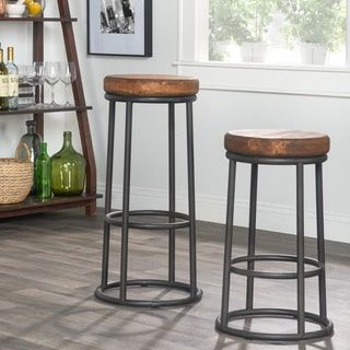 Kosas Home Willow Reclaimed Pine 24-inch Counter Stool