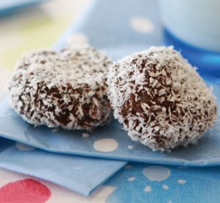 Fridge cookies | Healthy Food Guide 1 cup pitted dates 1/4 cup orange juice 1/2 cup ground almonds 1 tablespoon cocoa 1/4 teaspoon cinnamon 1/4 cup fine desiccated coconut