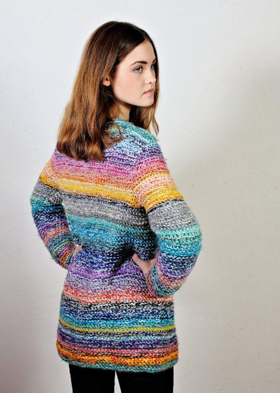 BOHO sweaterknit sweater bohocardigan by Isabellwoolstudio on Etsy