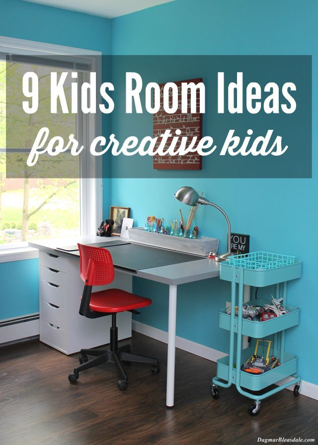Kids Room Ideas for Creative Kids! Make it inviting for your children to be creative with these ideas. Dagmar's Home, DagmarBleasdale.com