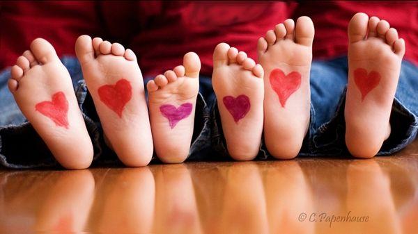 Ideas para hacer fotos de niños en San Valentín