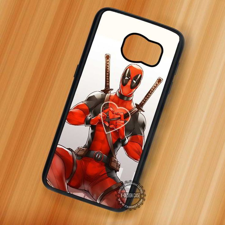 Love Heart Deadpool - Samsung Galaxy S7 S6 S5 Note 7 Cases & Covers