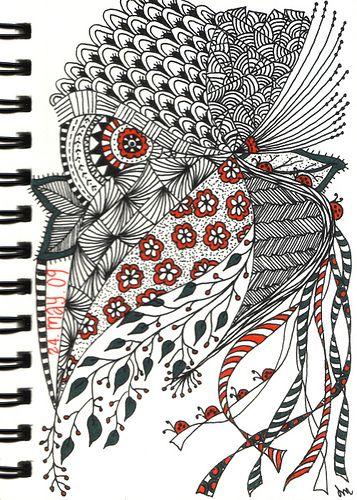 'Zentangle #20' by SpringChickOwls 20, Zentangle 20, Zentangles Doodles, Zen Tangled, Art Journals, Sharpie Art, Zentangle Doodles, Zentangle Owls