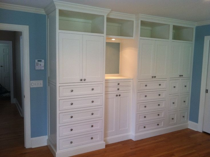 35 best images about master closet built in on pinterest for Bedroom built in cabinets designs