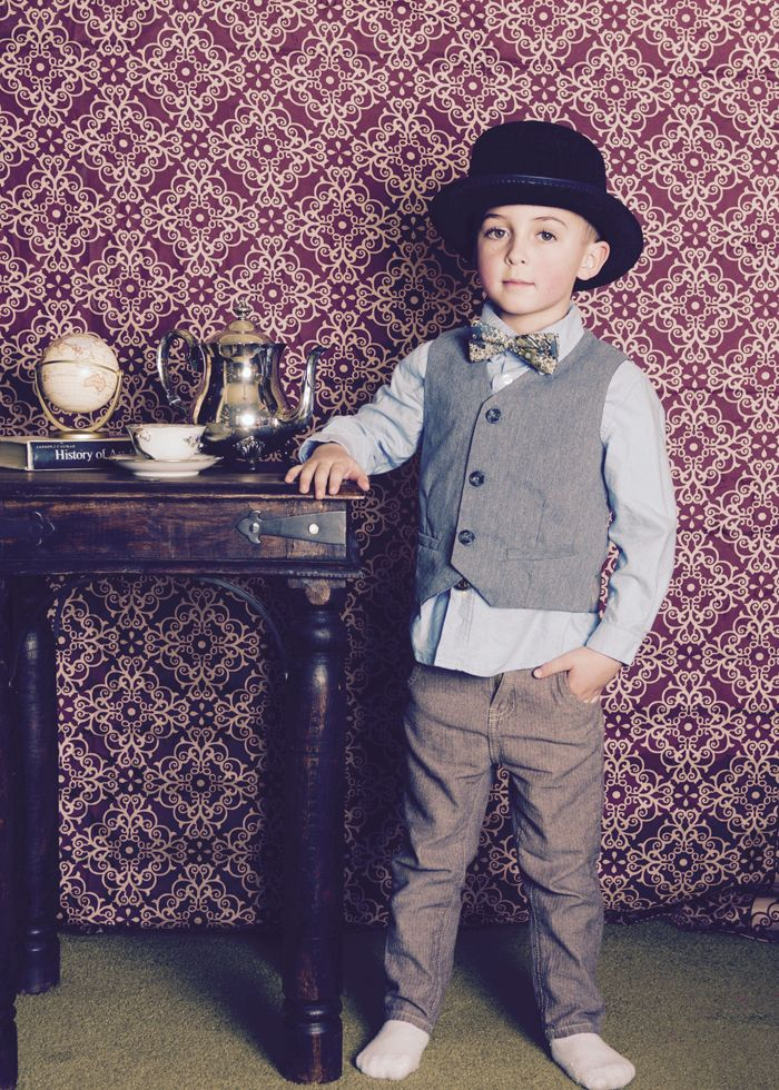 Dapper gentleman at photoshoot, Alice in Wonderland Tea Party | Halfpint Design