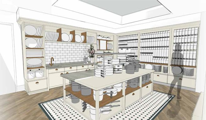Kitchen Sneak Peek:  Kitchen Design  It's so exciting that after many months of deliberation and work on the design, our new St John's Wood store is now quickly taking shape.  The skylights are in and the tiles have been laid in our bespoke Shaker-style kitchen.    #kitchen #design #shakerstyle