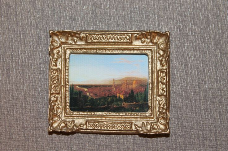 DOLLHOUSE MINIATURE Painting/ Picture # 96
