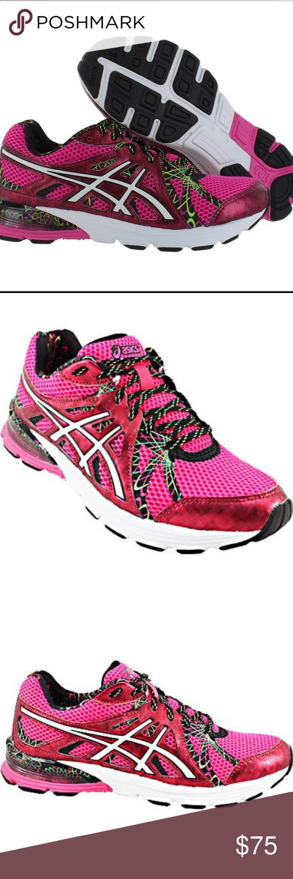 Asics Gel-Preleus Running Women's Shoes Size Asics Gel-Preleus Women's Running Shoes. With just the right combination of cushion and support, the bold Gel-Preleus running shoes by Asics match your pace, mile after mile. Ideal for neutral, high-mileage runners, these brightly colored trainers offer enhanced cushioning to soften impact and absorb shock. For a workout buddy that you can depend on, lace up these reliable Asics and experience the ultimate running comfort.  New with Tags No Box…