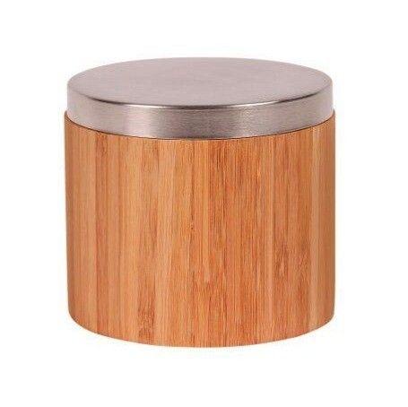 Fraai #bamboe #doosje met deksel voor het veilig opbergen van #watten-schijfjes.