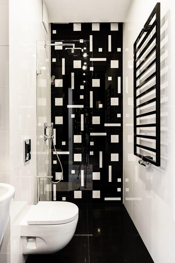 Mała łazienka w prysznicem pracownia Dragon Art