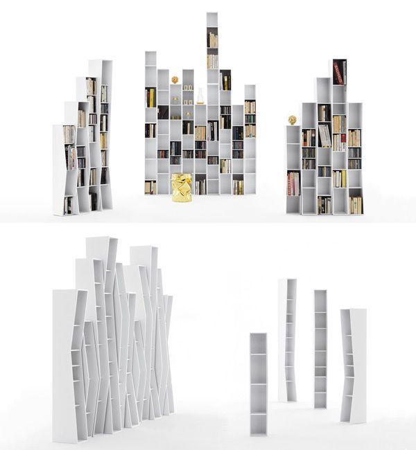 """La particolarità della #libreria componibile #OpinionCiatti UpTown consiste nel ricreare negli ambienti domestici l'effetto """"skyline"""" di una metrolpoli."""