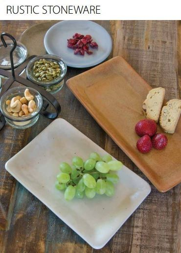 Rustic Stoneware accentuates any table