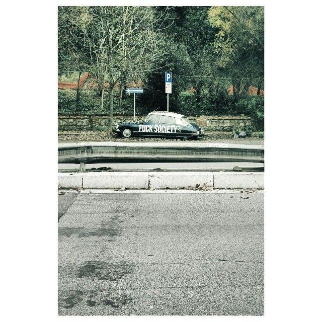 #fucksociety #fuck #society #manifesto #urban #street #streerart #art #roma #rome #alone #italy #italia #vscocar #vscogrid #vscocam #vscogood #vsco #vscoplace #vscobest #instaplace #car #vintage #retro #instalovers #instacool #instagood #instacam