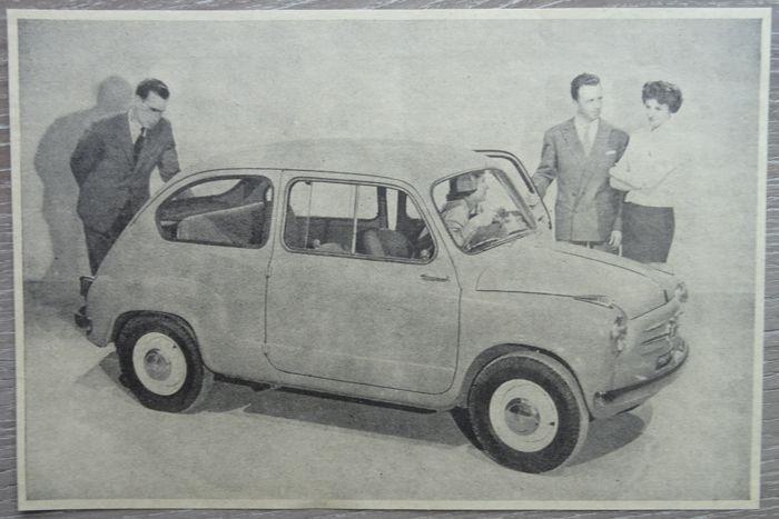 Fiat 600 - veel van 25 advertenties van 1955 tot 1968  Fiat 600600 - 600 Ghia - 600 Lombardi - 600 Monterosa - 600 Pininfarina - 600 Viotti - 600 Zagato - 600 D - 600 D Roadtest25 x tijdschrift advertenties van 1955 tot 19686 x 1955 / 9 x 1956 / 8 x 1957 / 1 x 1961 / 1 x 1968Taal: 25 x NederlandsAfmetingen: 1 x a3 / 13 x a4 / 1 x a5 / 10 x a6Alle advertenties zijn opslag in plastic hoesScheepvaart in kartonnen enveloppeVoor de echte verzamelaar van de Fiat 600!  EUR 7.00  Meer informatie