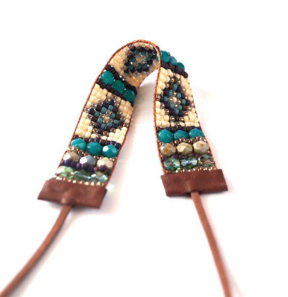 Turquoise Bead Loom Bracelet