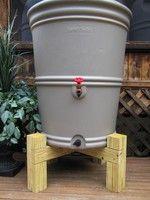 rain barrel stand, wooden rain barrel stand, Hamptons Rain Barrel Stand