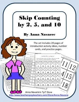 This skip counting packet is a resource for introducing and helping students begin learning to count by 2, 5, and 10.