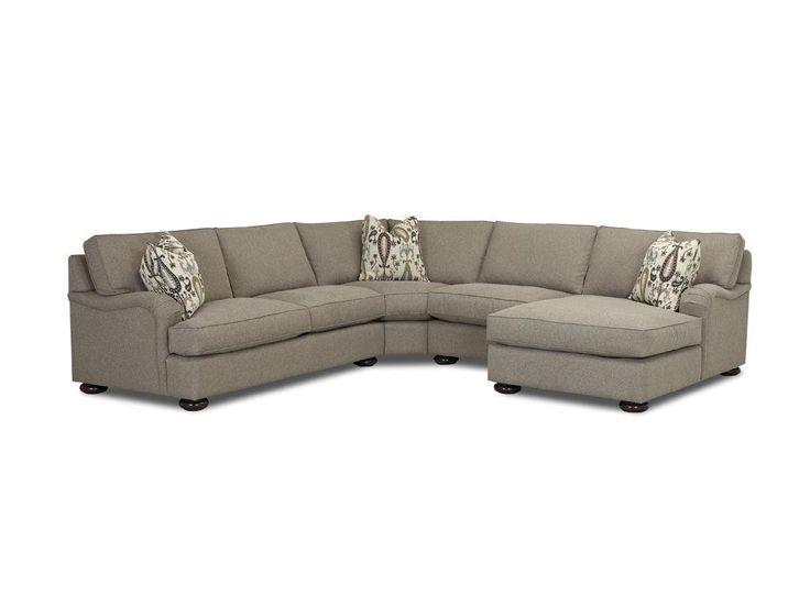 Custom Express Uph Living Room Killian Sectional D21400 FAB SECT Walter E.  Smithe Part 63
