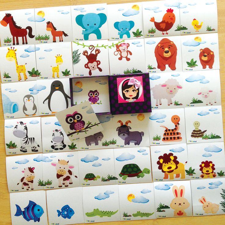 """""""Pia Polya Anne Hayvan ile Yavru Hayvanı Eşleştirme Kartları""""  Oyun, Pia Polya'nın tüm çocuklara hediyesi olup, fikir mülkiyeti Hotalı Ambalaj Tasarımına aittir."""