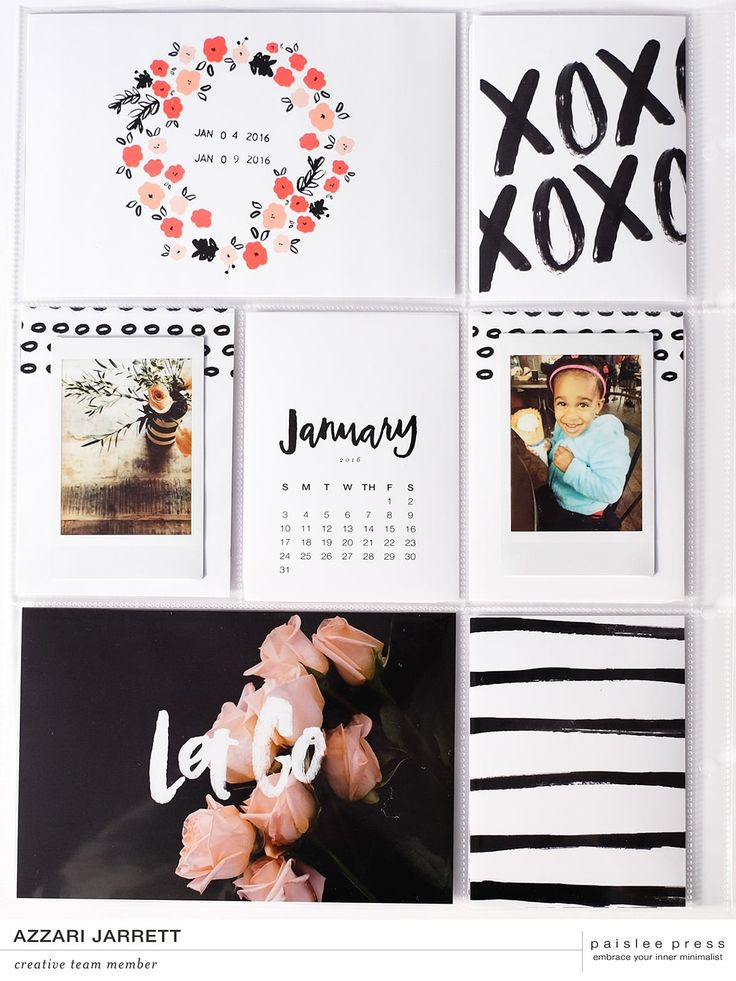 Project Life Layout using digital print cards
