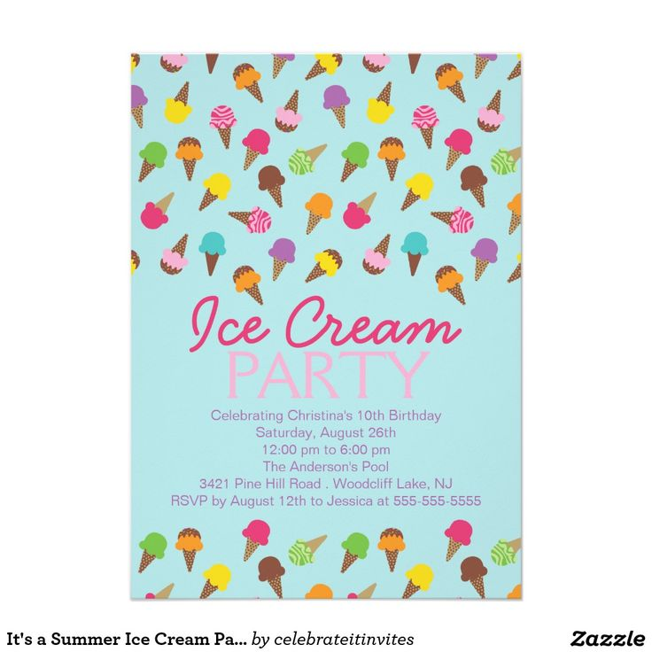 58 best Invites: Ice Cream Party images on Pinterest | Birthdays ...