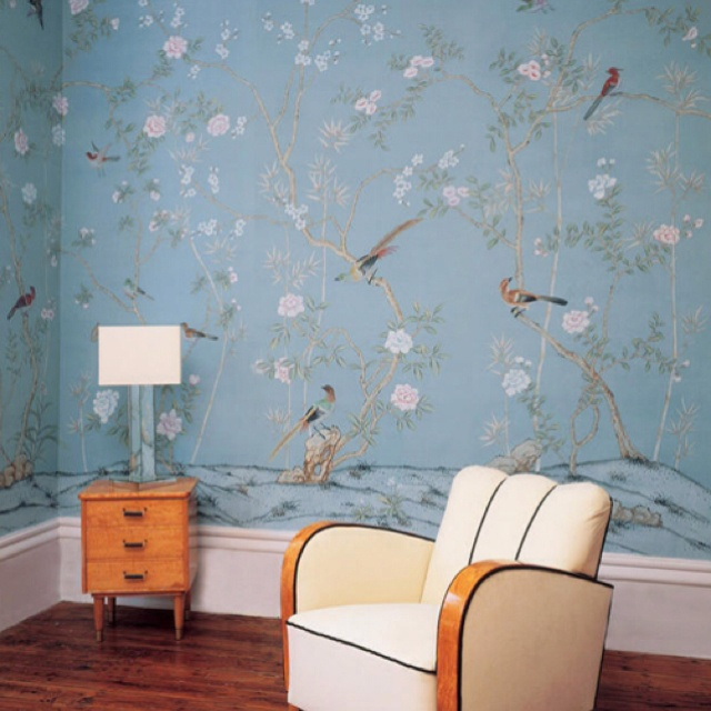 Chinoiserie wallpaper or mural spaces pinterest for Chinese wallpaper mural