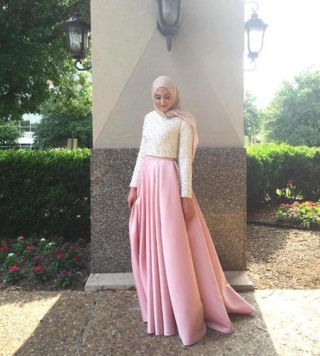 soriee blush dress hijab