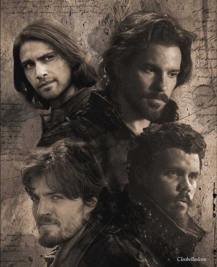 The Musketeers....Source: cleobelleslove