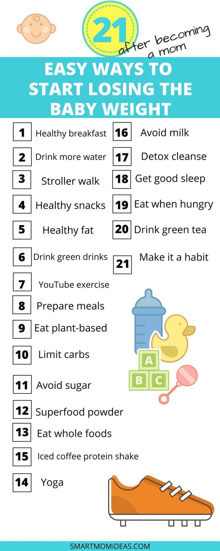 21 foolproof ways to lose baby weight   – Fitness