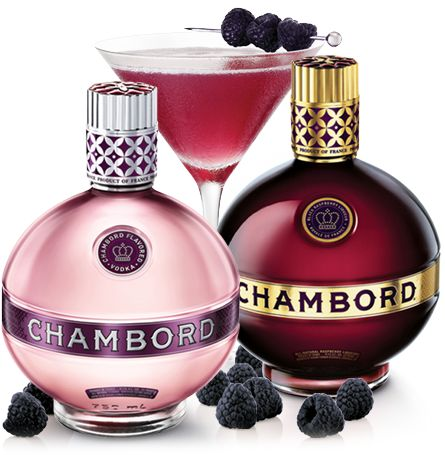 Chambord Vodka and Chambord Liqueur
