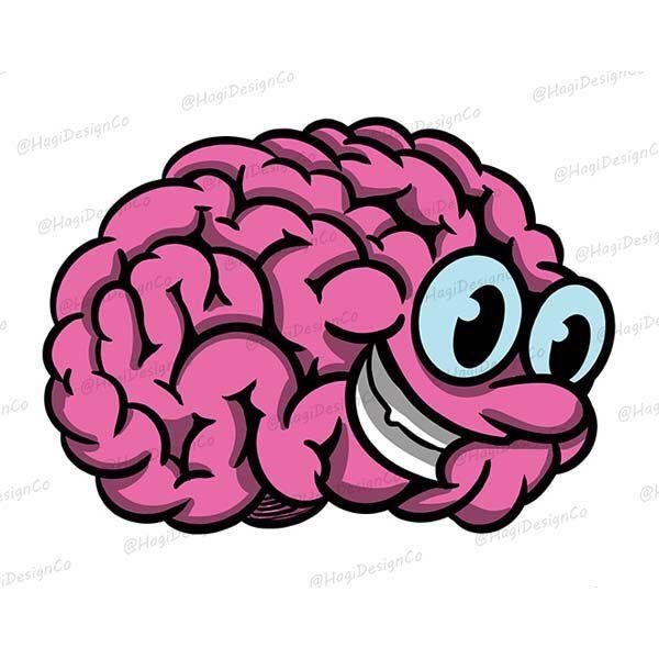 Cute Brain Clipart Png Files Digital Art Print Instant Etsy Digital Art Prints Clip Art Cartoon Clip Art