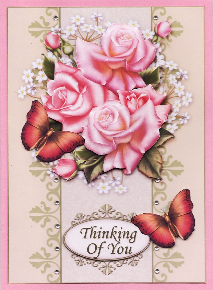 3D Roses and butterflies Card (by Tassie Scrapangel)