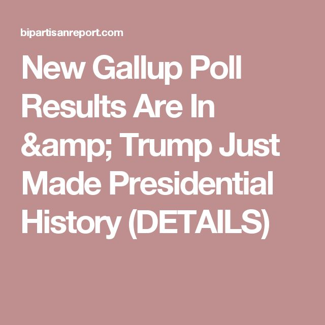 New Gallup Poll Results Are In & Trump Just Made Presidential History (DETAILS)