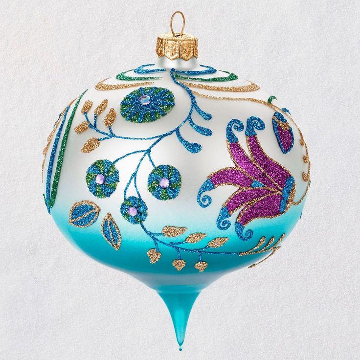 Heritage Collection Blown Glass Floral Onion Hallmark