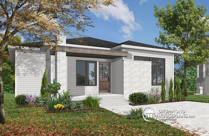 Discover The Plan 1704 V1 Camille Which Will Please You For Its 1 2 Bedrooms And For Its Contemporary Styles Cheap House Plans Rustic House Plans Modern Style House Plans