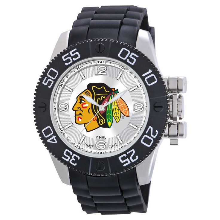 Men's NHL Game Time Anaheim Ducks Beast Series Watch - Black, Columbus Blue Jackets