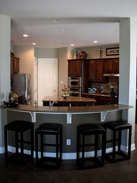 Pretty close to what i want needs red pendant lights Breakfast bar lighting ideas