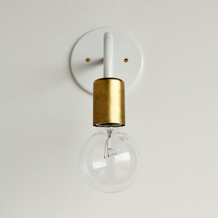 white gold wall sconce edison bulb