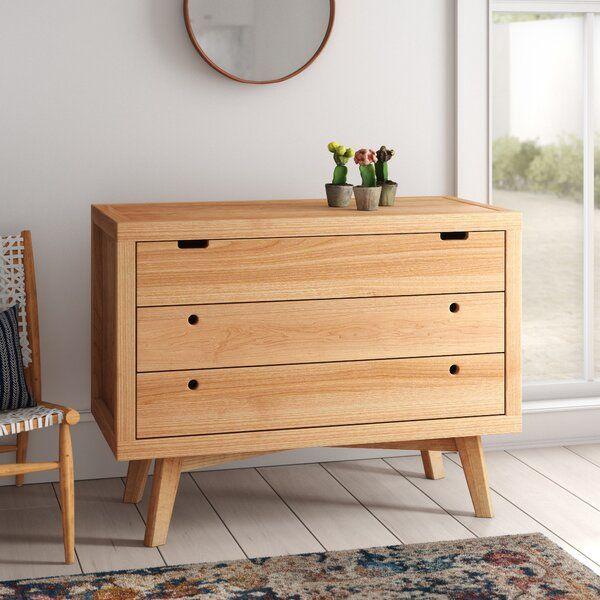 Torrey Retro 3 Drawer Dresser Reviews Allmodern Three Drawer Dresser Furniture Solid Wood Dresser Real wood chest of drawers