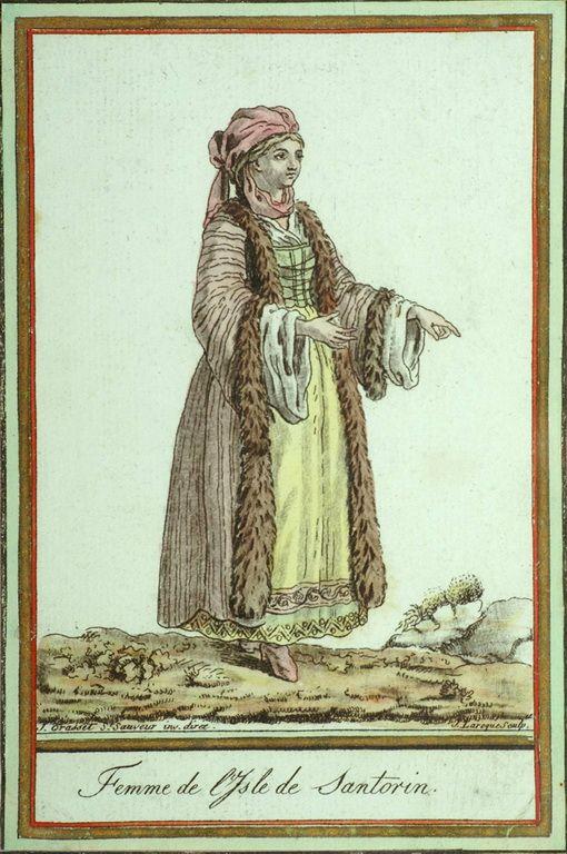 Jacques Grasset de St.Sauveur (1757-1810)-Γυναίκα της Σαντορίνης