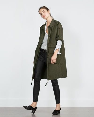 Image 1 of PARKA WITH ROLL-UP SLEEVES from Zara