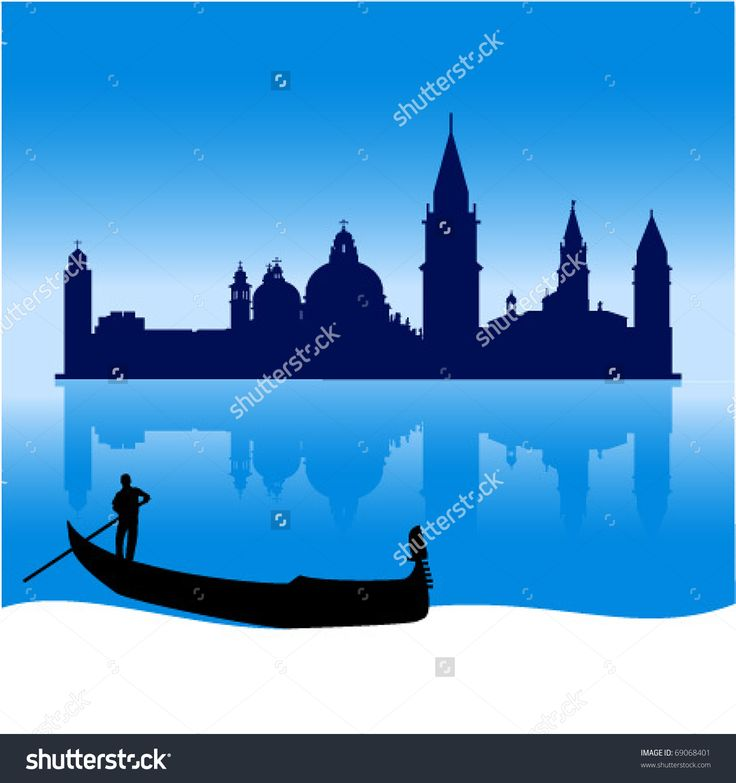 Image result for venice silhouette images